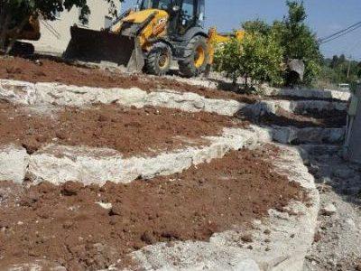 תכנון פיתוח שטח - בניית מסלעה